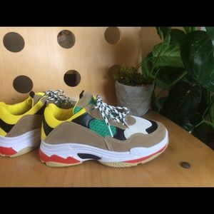 Color block Retro chunky sneakers